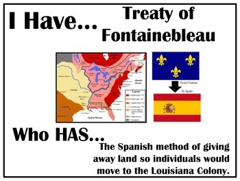 I Have..Who Has.. Colonial Louisiana
