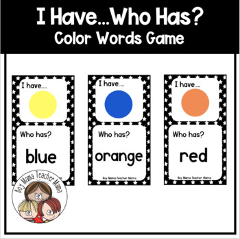 FREE I Have... Who Has?:  Color Words