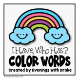 I Have Who Has English Spanish and French Color Words Card Set