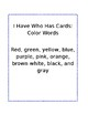 I Have Who Has Color Words in Black