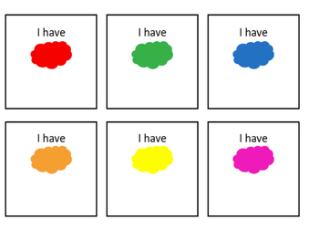 I Have Who Has Colors