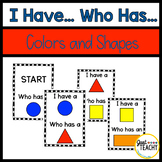 I Have, Who Has, Colors and Shapes