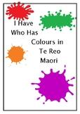I Have Who Has Colours in Te Reo Maori