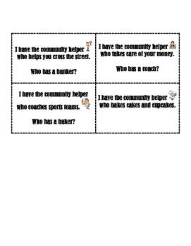 I Have, Who Has - Community Helpers