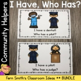 I Have Who Has Games Community Helpers Cards Bundle