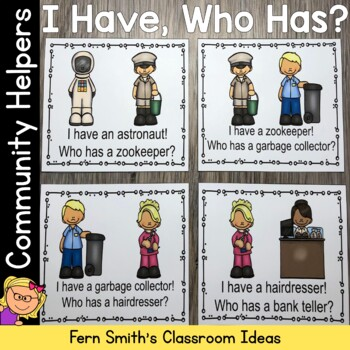 I Have Who Has Game Community Helpers Part Two