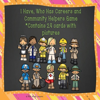 Community Workers I Have Who Has Community Helpers Game Activity