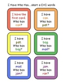 """""""I Have, Who Has..."""" Complete Set of Short Vowel CVC Games"""