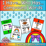 I Have Who Has Compound Words Game - Color and Black and White