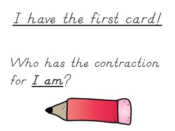 I Have Who Has - Contractions