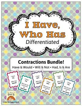 I Have, Who Has: Contractions Bundle