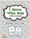 I Have, Who Has: Contractions (Have & Would}