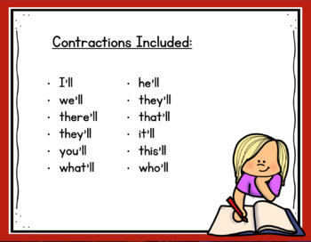 Contractions with Will: I Have... Who Has...?