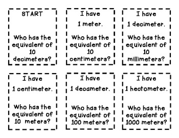 I Have, Who Has - Converting Measurement (Customary & Metric)