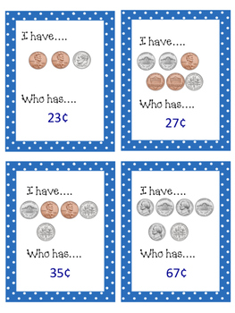 I Have...Who Has...Counting Change Bundle