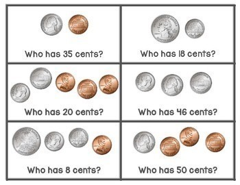 I Have, Who Has: Counting Coins