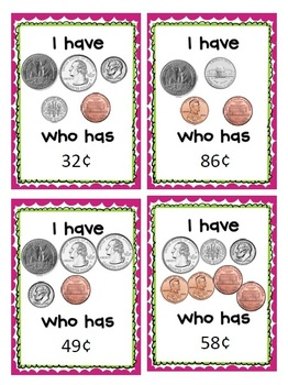 I Have, Who Has Counting Coins Pack