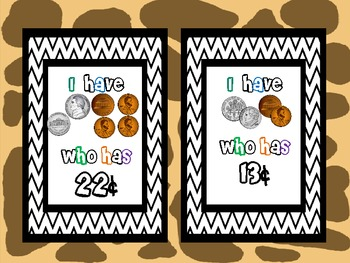 I Have Who Has-  Counting Money up to 25 cents