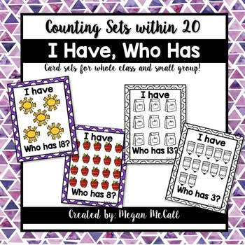 I Have, Who Has-Counting Sets to 20