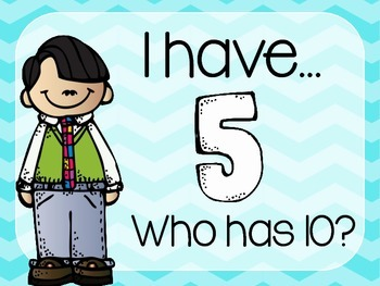 I Have, Who Has Counting by Fives