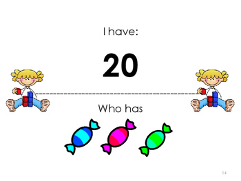I Have Who Has - Counting to Tell the Number of Objects