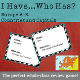 I Have...Who Has: Countries and Capitals of Europe (Review