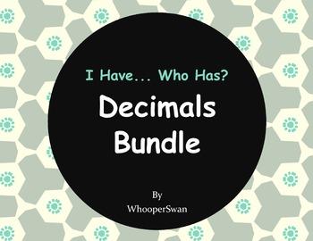 Decimals Bundle - I Have, Who Has Game