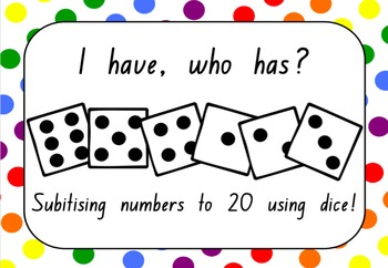I Have, Who Has? (Dice, Numbers to 20)