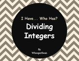I Have, Who Has - Dividing Integers