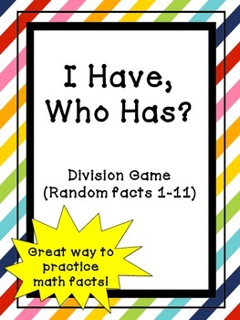 I Have, Who Has? Division