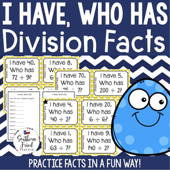 I Have, Who Has Game - Division Facts