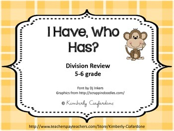 I Have Who Has Division Practice