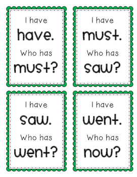 I Have, Who Has? Dolch Primer Sight Words