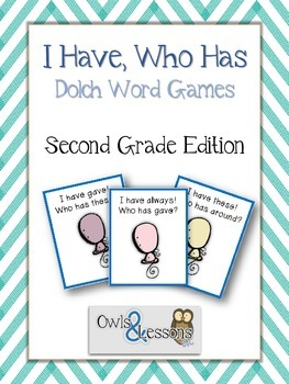 I Have, Who Has Dolch Word Games Second Grade