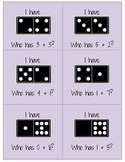 """I Have, Who Has"" Domino Addition Game"