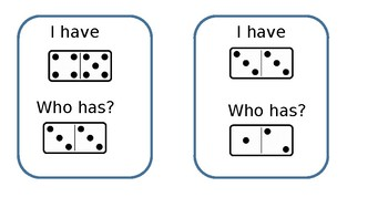 I Have, Who Has? Domino Addition Game