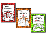 I Have... Who Has...? Double Consonants Digraphs ff, ll, s