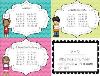 I Have, Who Has Doubles Pack: Doubles, Doubles Plus One & Subtraction Doubles
