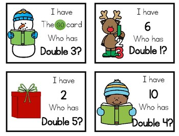 I Have Who Has? Doubles to 20 - Christmas Edition