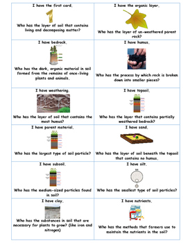 I Have/Who Has? Earth Science Bundle-Plate Tectonics/Water/Soil