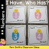 I Have Who Has Game Spring Chicks Numbers 1-25 Cards