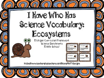 I Have Who Has Ecosystem Vocabulary Review Game