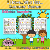 I Have Who Has Editable Template - Summer Theme