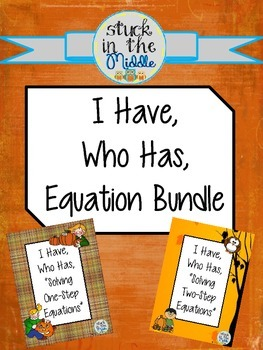 I Have Who Has Equation Game Bundle