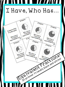 I Have, Who Has Equivalent Fractions