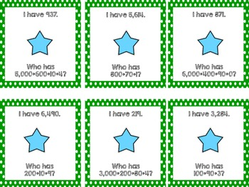 I Have, Who Has? Expanded Form {CCSS Aligned}