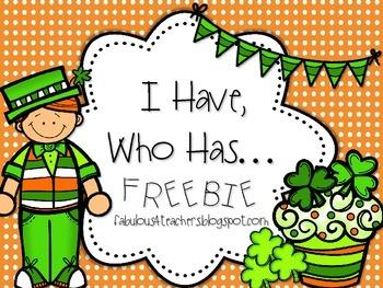 I Have, Who Has {FREEBIE}