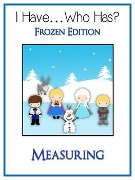 I Have Who Has - FROZEN - A Nonstandard Measuring Math Folder Games