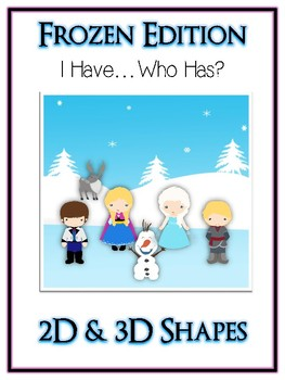 I Have Who Has FROZEN Princess Folder Game - 3D & 2D Shapes