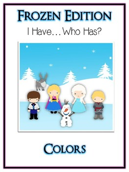I Have Who Has FROZEN Princess Folder Game - Colors